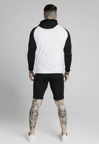 SIKSILK - SCOPE ZIP CONTRAST THROUGH HOODIE - Vest - black/white - 2