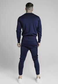 SIKSILK - EYELET PANEL CREW - Long sleeved top - navy eclipse - 2