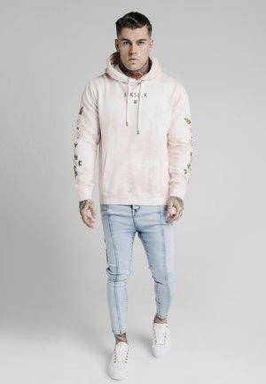 TIE DYE OVERHEAD HOODIE - Felpa con cappuccio - dusky pink