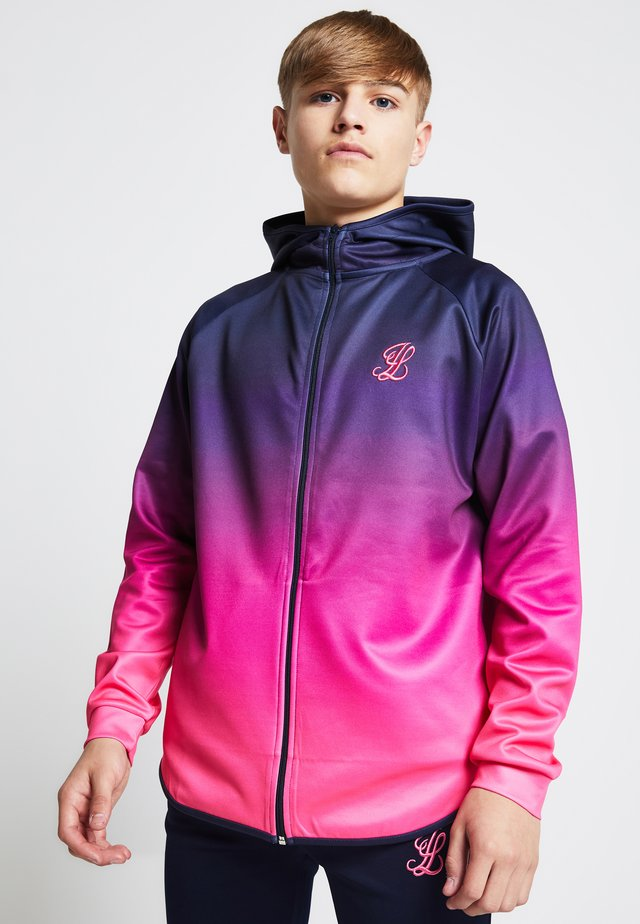 ILLUSIVE LONDON JUNIORS  - Felpa aperta - navy/neon pink