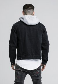 SIKSILK - DETACHABLE HOOD - Denim jacket - washed black - 2