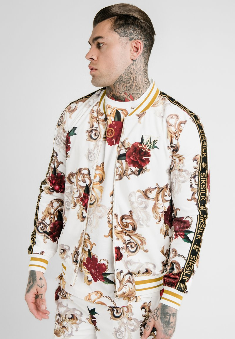 SIKSILK - DANI ALVES JACKET - Bomberjacke - white