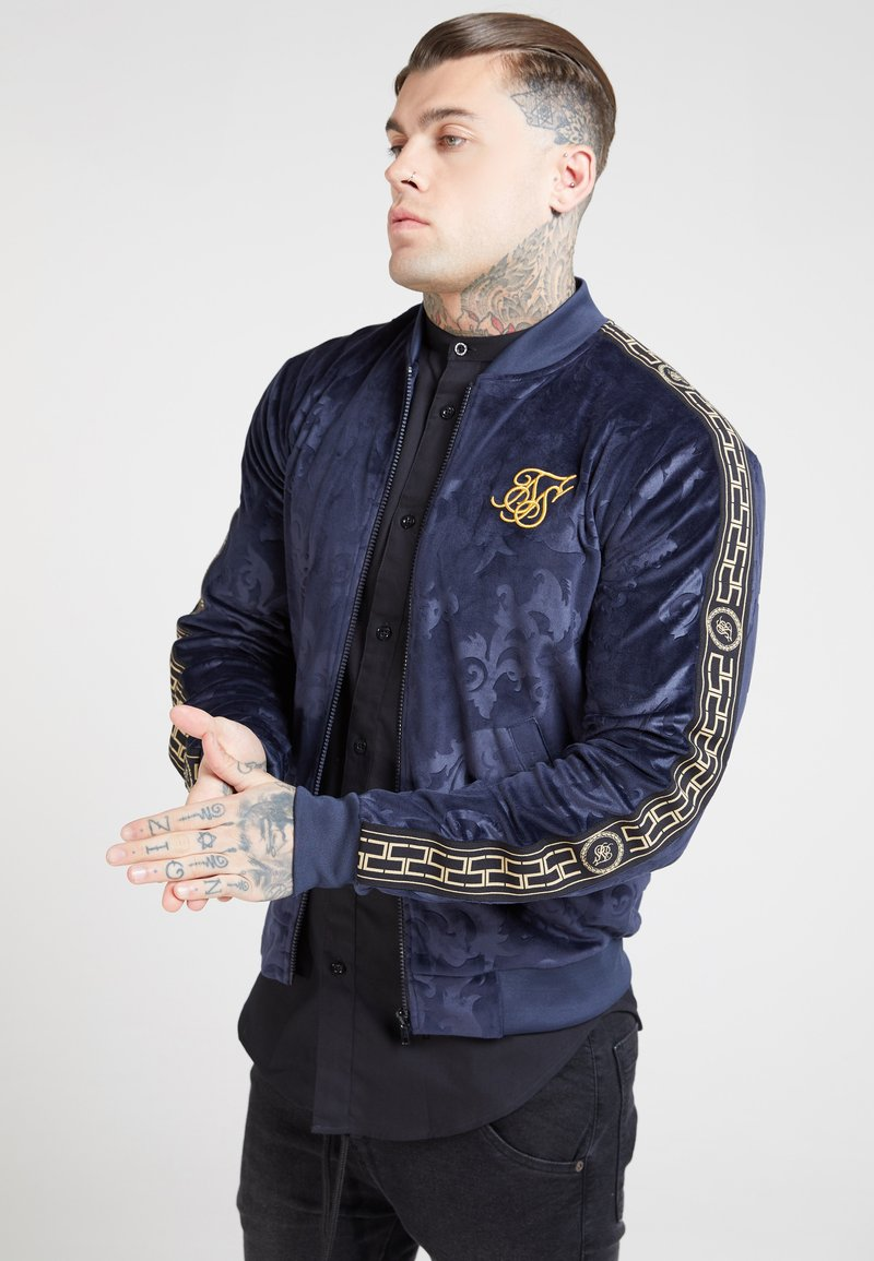 SIKSILK - DEBOSSED  - Veste de survêtement - navy