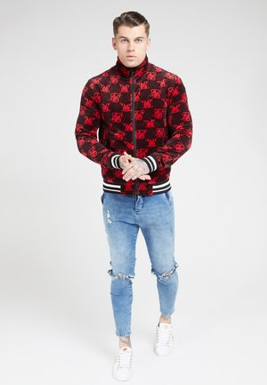 HIGH NECK JACKET - Giubbotto Bomber - navy/red