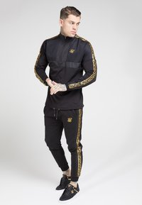 SIKSILK - EVOLUTION HALF ZIP TRACK TOP - Lehká bunda - black & gold - 4