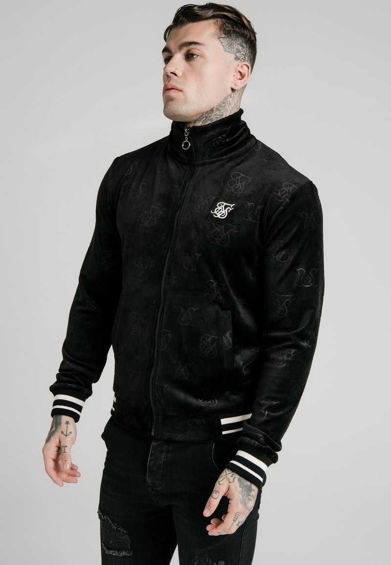 SIKSILK - DEBOSSED JACKET - Bomber Jacket - jet black