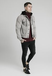 SIKSILK - WITH DETACHABLE HOOD - Jeansjacka - grey - 1