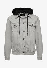 SIKSILK - WITH DETACHABLE HOOD - Jeansjacka - grey - 3