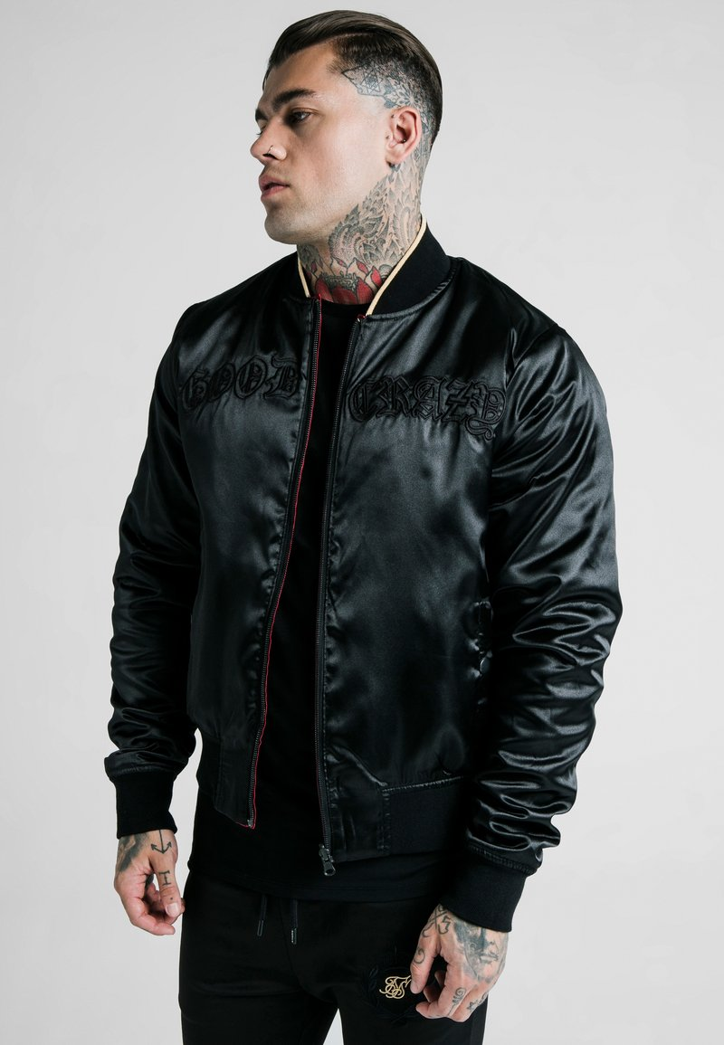 SIKSILK - DANI ALVES REVERSIBLE BOMBER JACKET - Giubbotto Bomber - dark red/black
