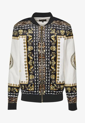 DANI ALVES JACKET - Bomberjacka - black/off white/gold