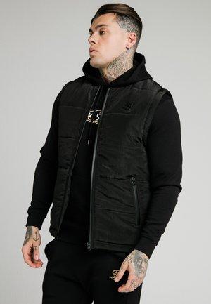 SIKSILK PADDED GILET - Waistcoat - black