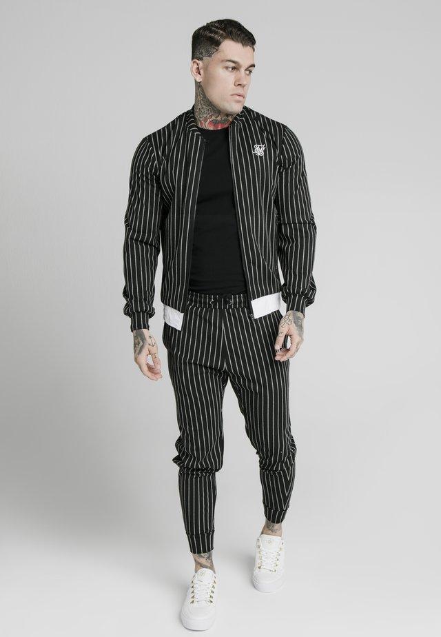 PINSTRIPEJACKET - Blouson Bomber - black/white