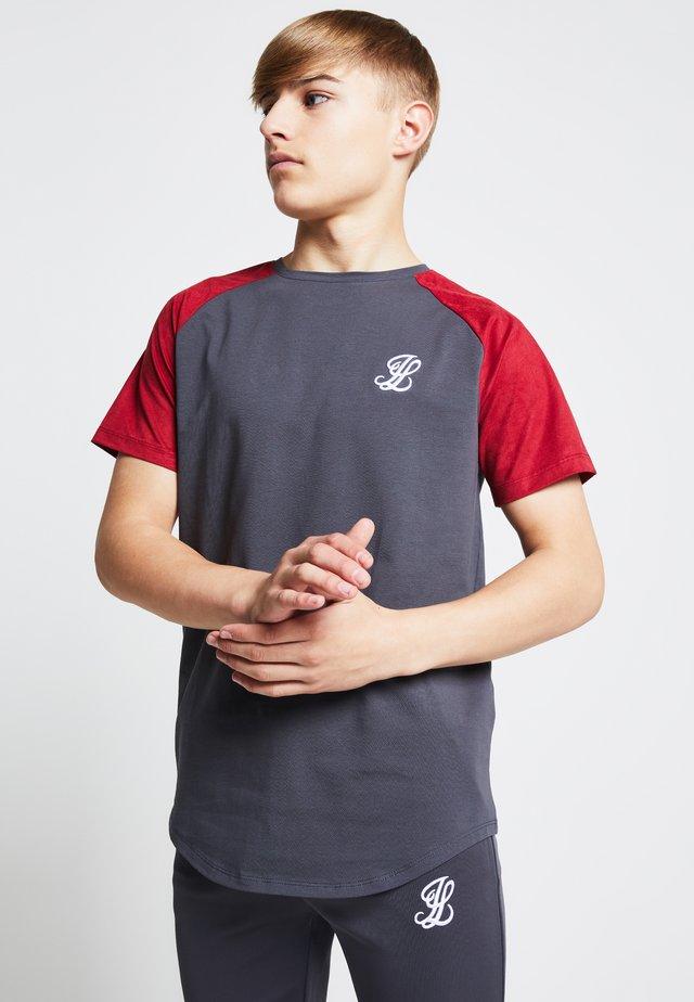 T-shirt print - grey/pink