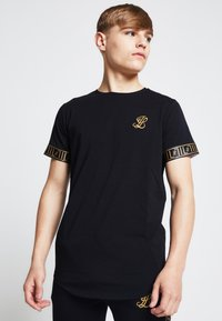 SIKSILK - LONDON - Camiseta estampada - black - 0