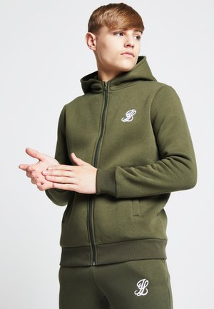LONDON  - veste en sweat zippée - khaki
