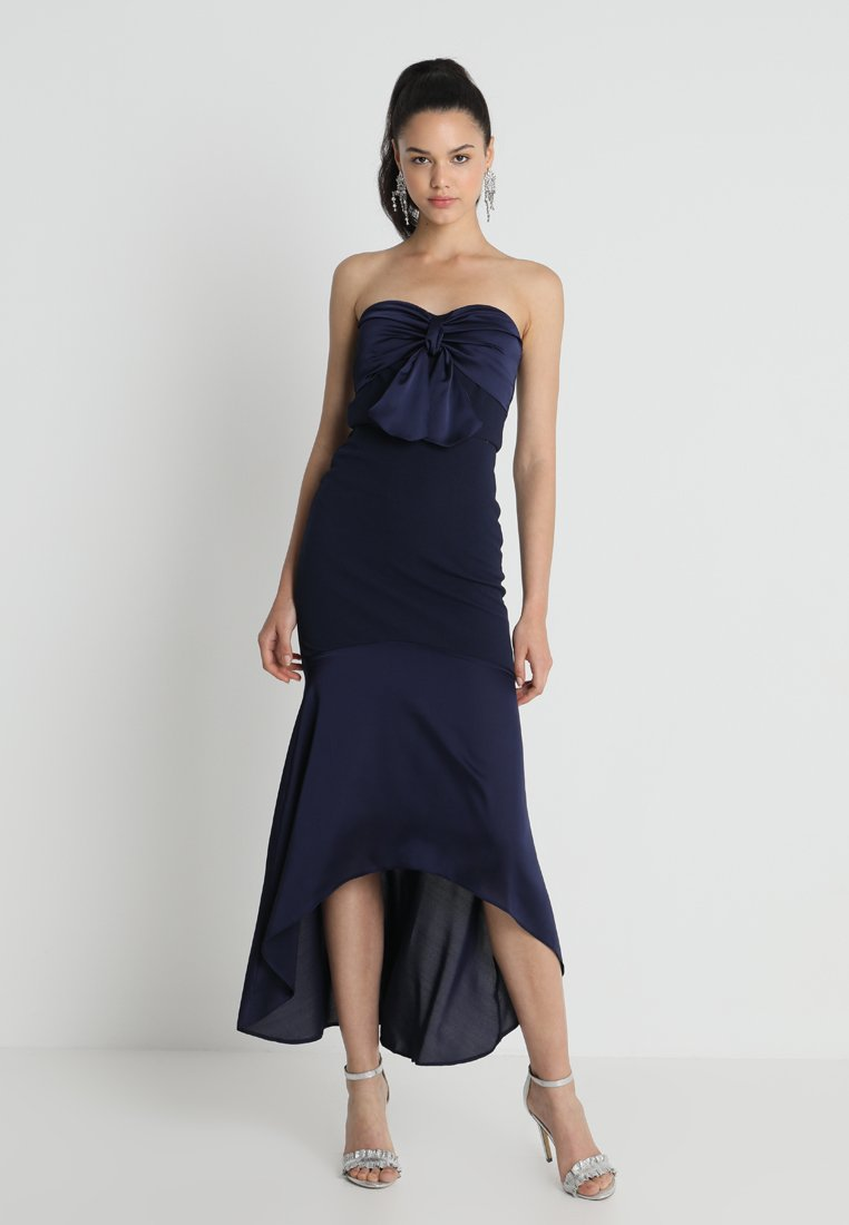 Silver Bloom - BLOOM CONTRAST WITH BOW - Maxi-jurk - navy