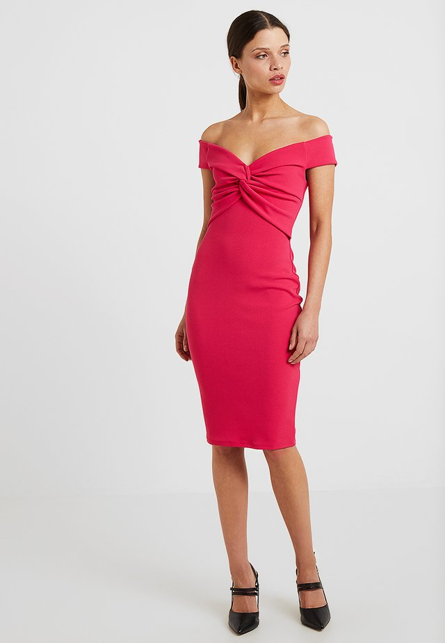 CAROLINA - Shift dress - hot pink