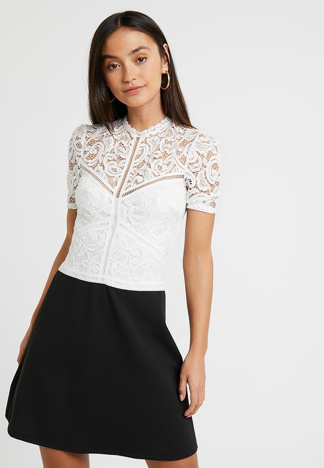MISSIE - Cocktailjurk - black/white