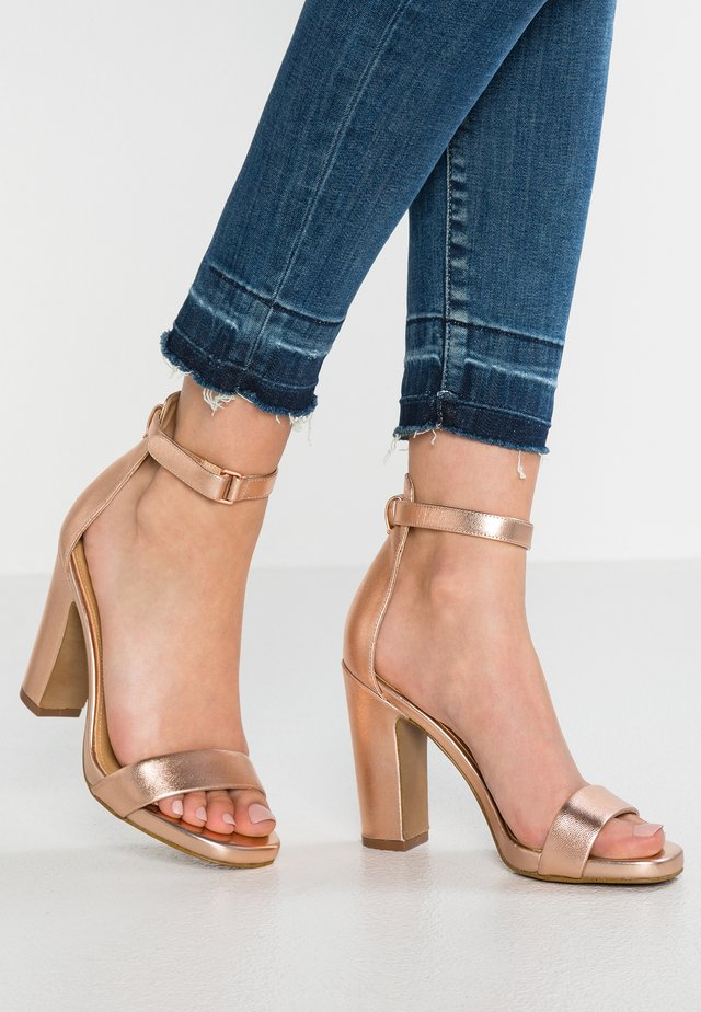 FELTON - High heeled sandals - rose gold
