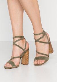 Siren - KANDY - Højhælede sandaletter / Højhælede sandaler - natural/khaki - 0
