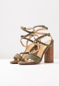 Siren - KANDY - Højhælede sandaletter / Højhælede sandaler - natural/khaki - 4