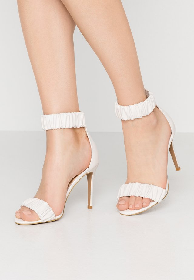 DILLON - High heeled sandals - chalk