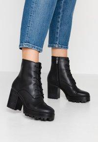 Siren - MACK - High heeled ankle boots - black - 0