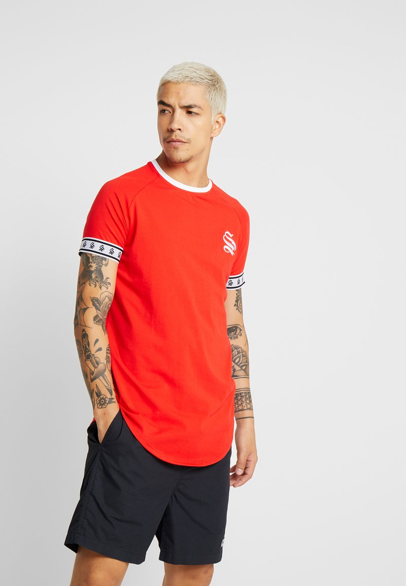 SINNERS ATTIRE - TAPE TEE - T-shirt con stampa - red/white