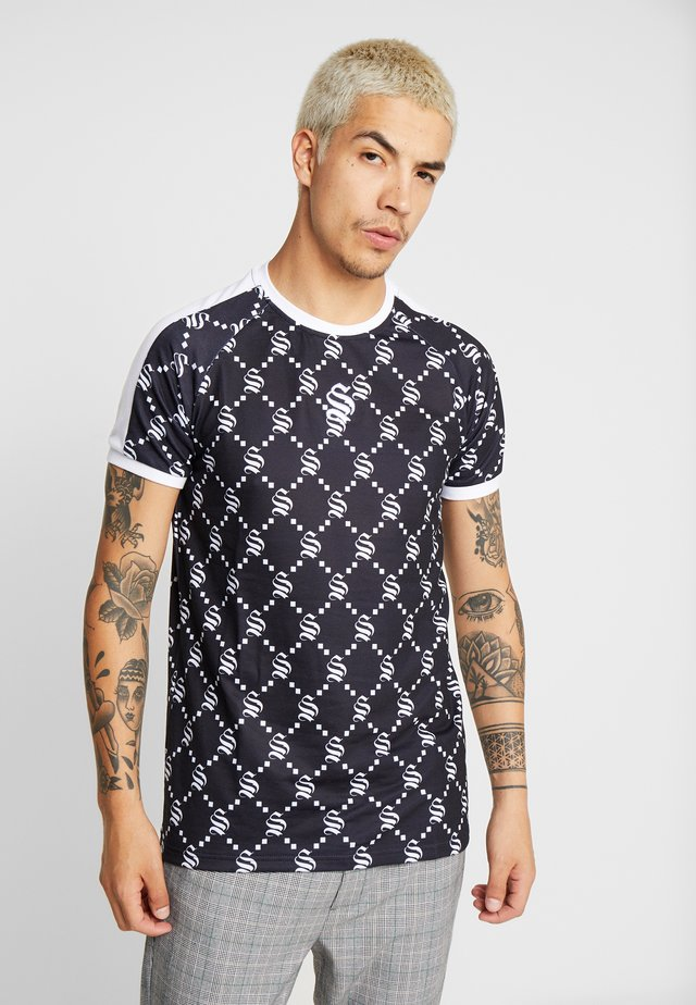 MONOGRAM PATTERN TEE - Print T-shirt - black