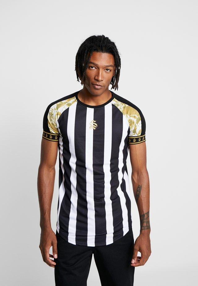 ROSE RAGLAN TEE - T-shirts print - black