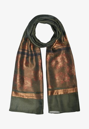 Scarf - dark green/copper