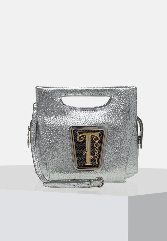 Handväska - metallic silver