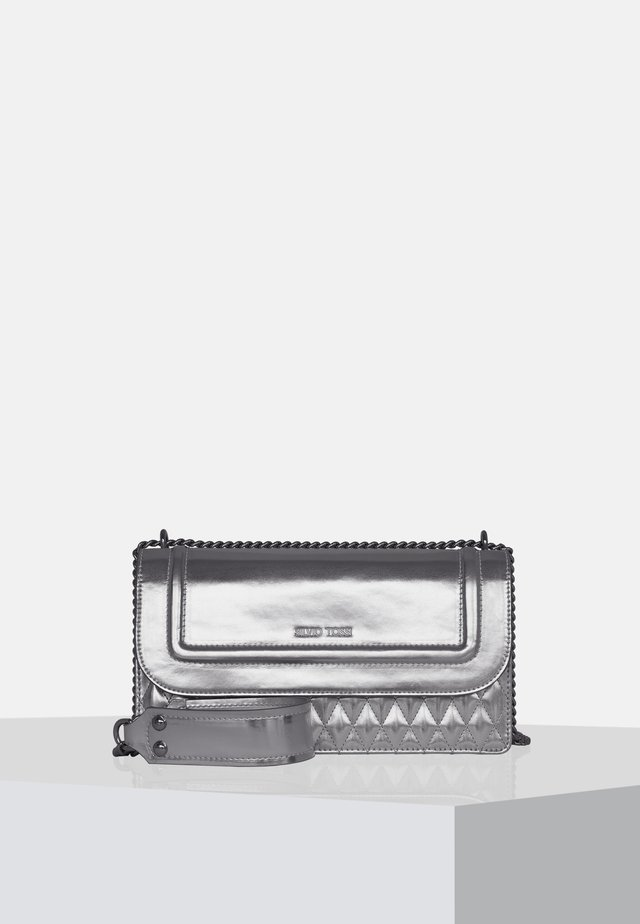 Handtasche - metallic-silver