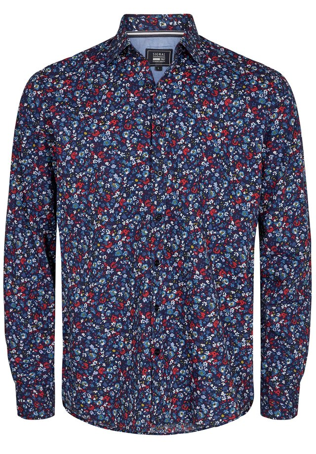 ARON FLORAL PRINT - Shirt - duke blue