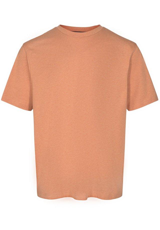 Basic T-shirt - orange fire mel