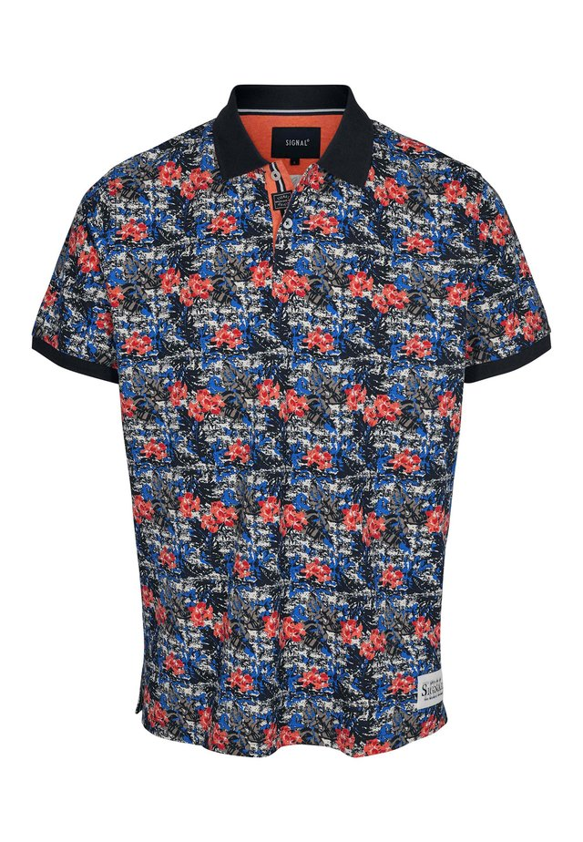 BENITO TROPICAL PRINT SGL - Polo shirt - orange fire