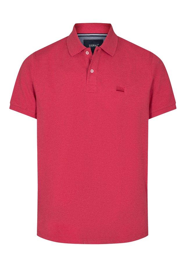 NICKY - Polo shirt - poppy red melange