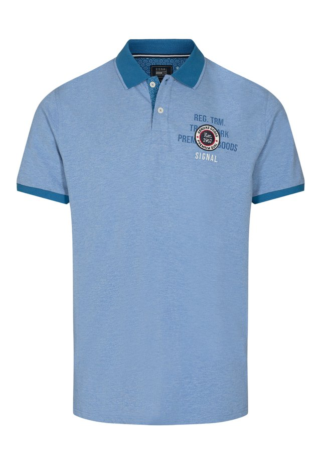 GASTON - Polo shirt - clear blue mel