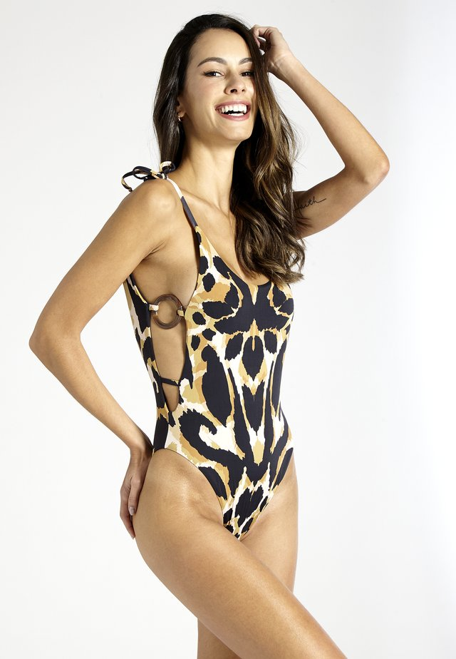 MEZCAL OPEN BACK - Swimsuit - leopard