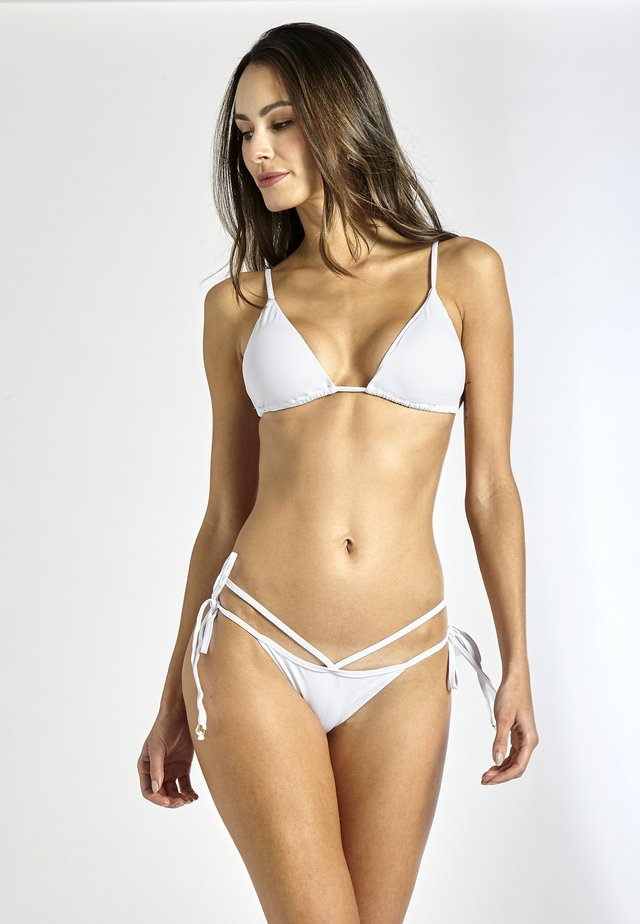 BELLINI STRAPPED - Bikini bottoms - white