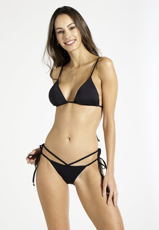 BELLINI STRAPPED - Bikini bottoms - black
