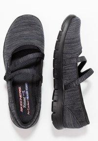 Skechers - FLEX RENEW MAKE IT COUNT RELAXED FIT - Ballerinat nilkkaremmillä - black - 3