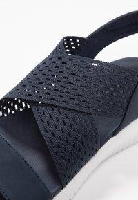 Skechers - ULTRA FLEX - Wedge sandals - navy - 2