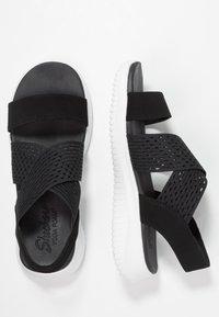 Skechers - ULTRA FLEX - Wedge sandals - black - 3