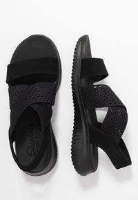 Skechers - ULTRA FLEX - Wedge sandals - black - 3