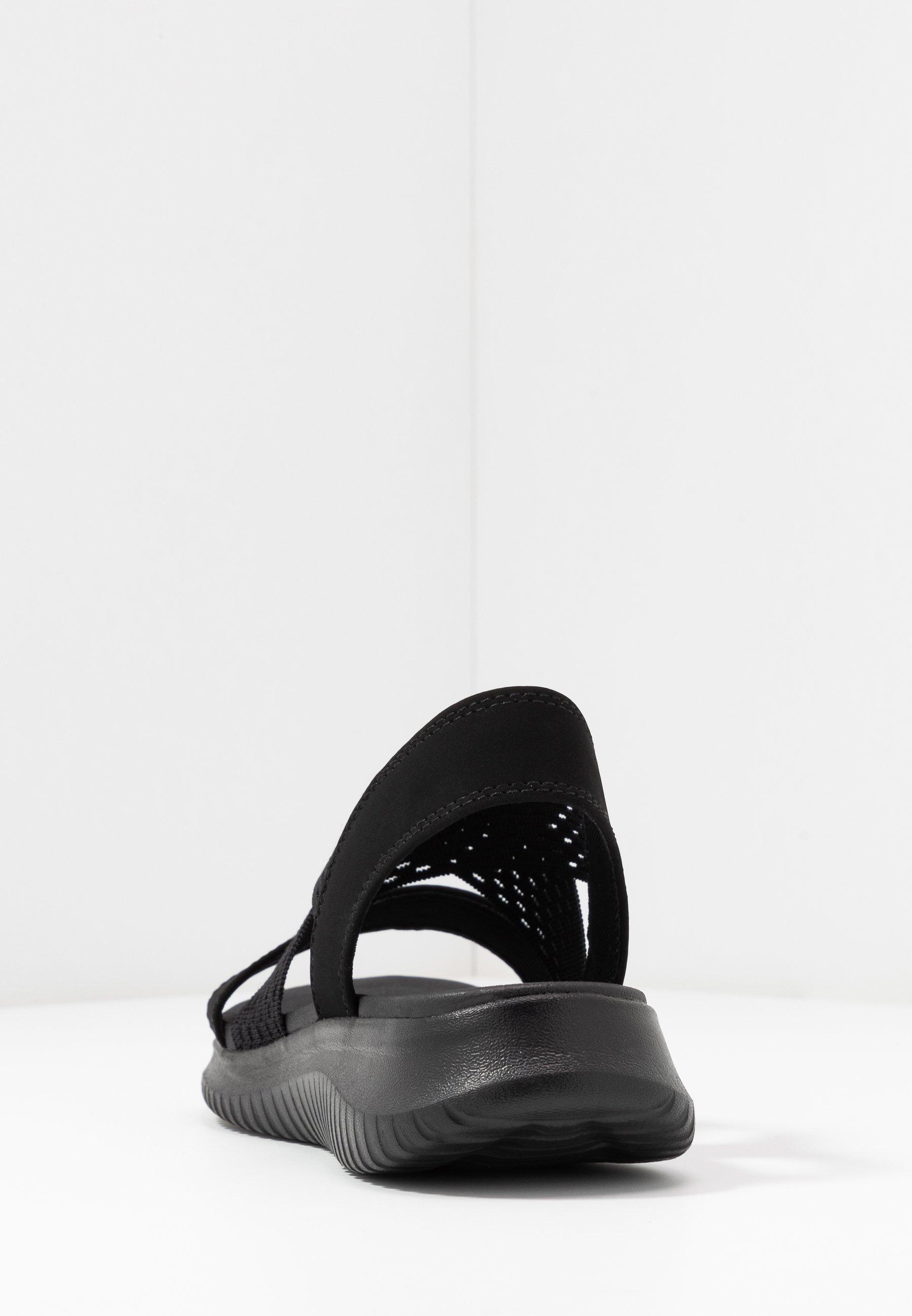 Skechers Ultra Flex - Wedge Sandals Black