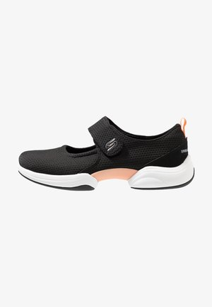 LAB CHIC INTUITION - Ankle strap ballet pumps - black/white