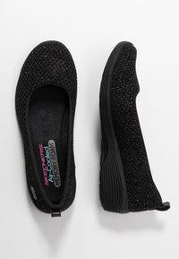 Skechers - ARYA - Ballerina - black metallic/black/gunmetal - 3