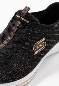 Skechers - CITY PRO - Matalavartiset tennarit - black/rose gold/white - 2