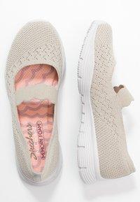 Skechers - SEAGER - Ankle strap ballet pumps - natural - 3